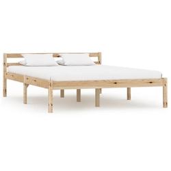 Vidaxl rama łóżka, lite drewno sosnowe, 120 x 200 cm