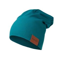 czapka podwójna szmaragdowa