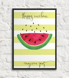 Happy melon sad melon - plakat