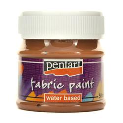 Farba do tkanin Pentart 50 ml - brązowa - BRĄZ