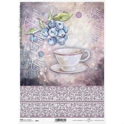 Papier ryżowy ITD A4 R896 filiżanka herbata