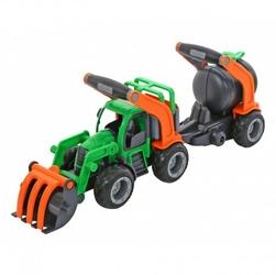 Wader traktor z przyczepą łyżka + cysterna