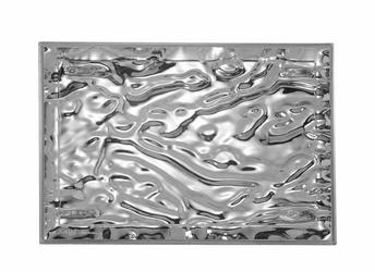 Taca Dune duża metalizowany chrom
