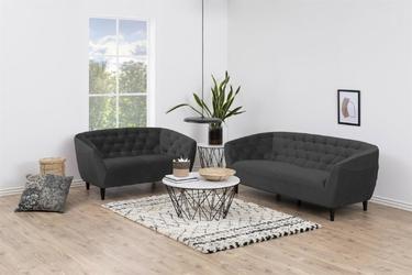 Sofa 3osobowa ria velvet dark grey - szary || czarny