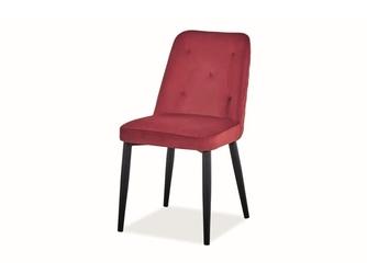 Krzesło tapicerowane nowoczesne - metalowe nogi - duran czarnybordowy