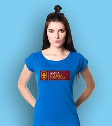 Amba fatima t-shirt damski niebieski xs