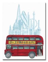 See london by bus - obraz na płótnie