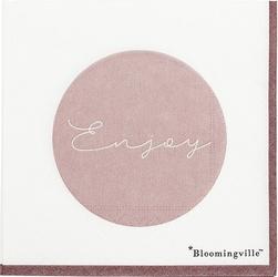 Serwetki Enjoy biało-różowe 20 szt.