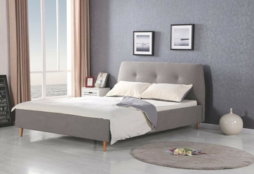 Łóżko tapicerowane doris szare
