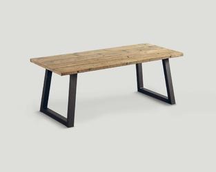 Stół z drewna z recyklingu - metalowa podstawa db003758
