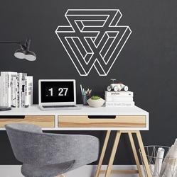 Geometric art ii - naklejka ścienna , kolor naklejki - biała, wymiary naklejki - 70cm x 60cm