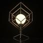 Geometryczna lampka stołowa led - klatka demarkt 726030401