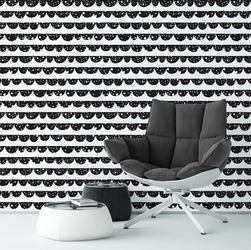 Gwiezdne półkola - tapeta na ścianę , rodzaj - tapeta flizelinowa laminowana