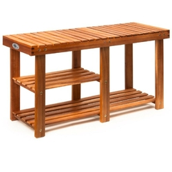 Półka regał stojak drewniany na buty siedzisko