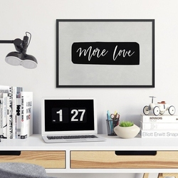 More love - plakat w ramie , wymiary - 60cm x 90cm, ramka - czarna