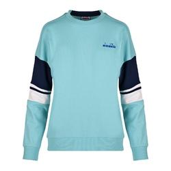 Bluza damska diadora l. crewneck sweat logo - niebieski