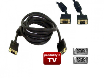 Kabel D-SUB FULL HD VGA SVGA 3M Gold
