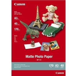 Canon Matte Photo Paper, foto papier, matowy, biały, A3, 170 gm2, 40 szt., MP-101 A3, atrament