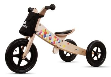Sun Baby Twist Cubic Black Edition Rowerek biegowy drewniany 2w1 + Prezent 3D