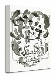 Mickey Mouse Steamboat Willie - Steam - Obraz na płótnie