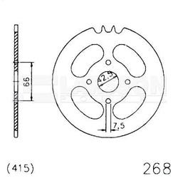 Zębatka tylna stalowa jt 20-0268-45, 45z, rozmiar 415 2301062 hercules prima 25