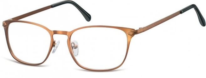 Oprawki okularowe kocie oczy damskie stalowe sunoptic 991g brązowe