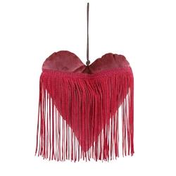 Dekoracja bożonarodzeniowa  ozdoba na boże narodzenie altom design welurowa zawieszka serce czerwone 20 x 18 cm