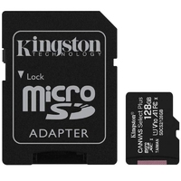 Kingston karta pamięci microsd 128gb canvas select plus 100mbs adapter