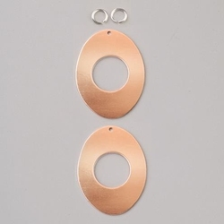 Metalowa zawieszka Efcolor - owal 35 mm - 2 szt. - OW35