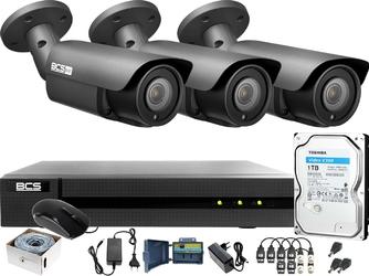 Monitoring po skrętce bcs basic 4mpx 1tb h265+ 3 x kamera bcs-b-dt42812ii 2.8-12mm ir 40m