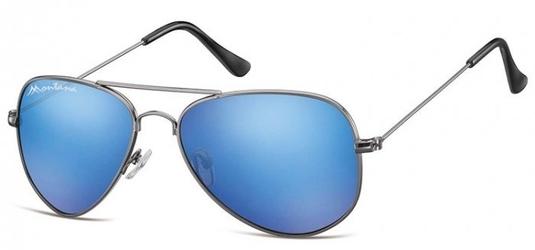 Niebieskie pilotki okulary lustrzane aviator ms94c