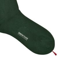 Zielone bawełniane skarpetki męskie bresciani s