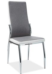 Dwukolorowe krzesło jadalniane na metalowych nogach h-237
