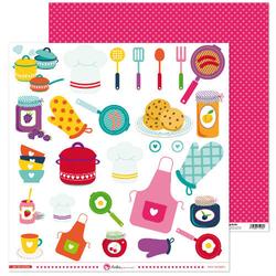 Kuchenny papier ozdobny 30x30 cm En mi cocina - 01