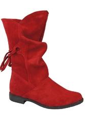 Obuwie botki damskie wiosna  jesień skóra naturalna welurowa czerwone 999 l elitabut - czerwone