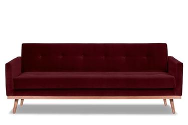Sofa klematisar z funkcją spania welurowa 3-osobowa  welur bawełna 100 bordowy