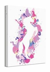 Splatter Silhouette Unicorn - obraz na płótnie