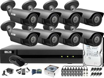 Monitoring po skrętce bcs basic 4mpx 1tb h265+ 8 x kamera bcs-b-dt42812ii 2.8-12mm ir 40m rejestrator 16 kanałowy
