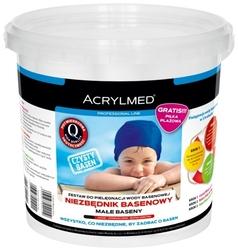 Zestaw basenowy – wiaderko 3x0,5 l calcid ph minus + extra chlor + aqua biocyd g-1 piłka plażowa gratis – acrylmed
