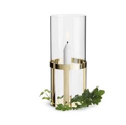 Lampion, świecznik złoty Winter Sagaform