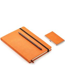 Notes, długopis, wizytownik - zestaw biznesowy Philippi pomarańczowy P246007