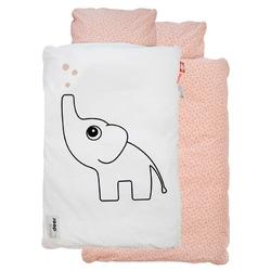 Pościel niemowlęca Dots 70 x 100 cm różowa