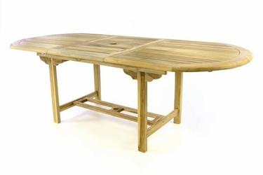 Rozkładany stół drewniany ogrodowy 170 do 230 cm