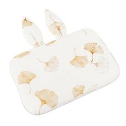 Bambusowa poduszka z uszami dla niemowląt samiboo 25x35 -  miłorzęby złote