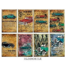 Zestaw papierów mini 24 szt. - oldsmobile - ols
