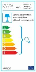 Kaspa :: lampa ścienna  kinkiet longis ii transparentna