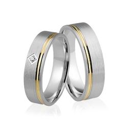 Obrączki srebrno złote - wzór ag-324