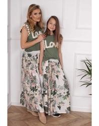 Spódnica maxi w kwiaty dla mamy