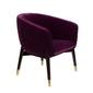 Dutchbone :: fotel tapicerowany lounge fioletowy