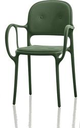Krzesło mila tapicerowane ciemnozielone